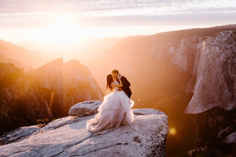 Taft Point Adventure Elopement Wedding Photography Yosemite National Park